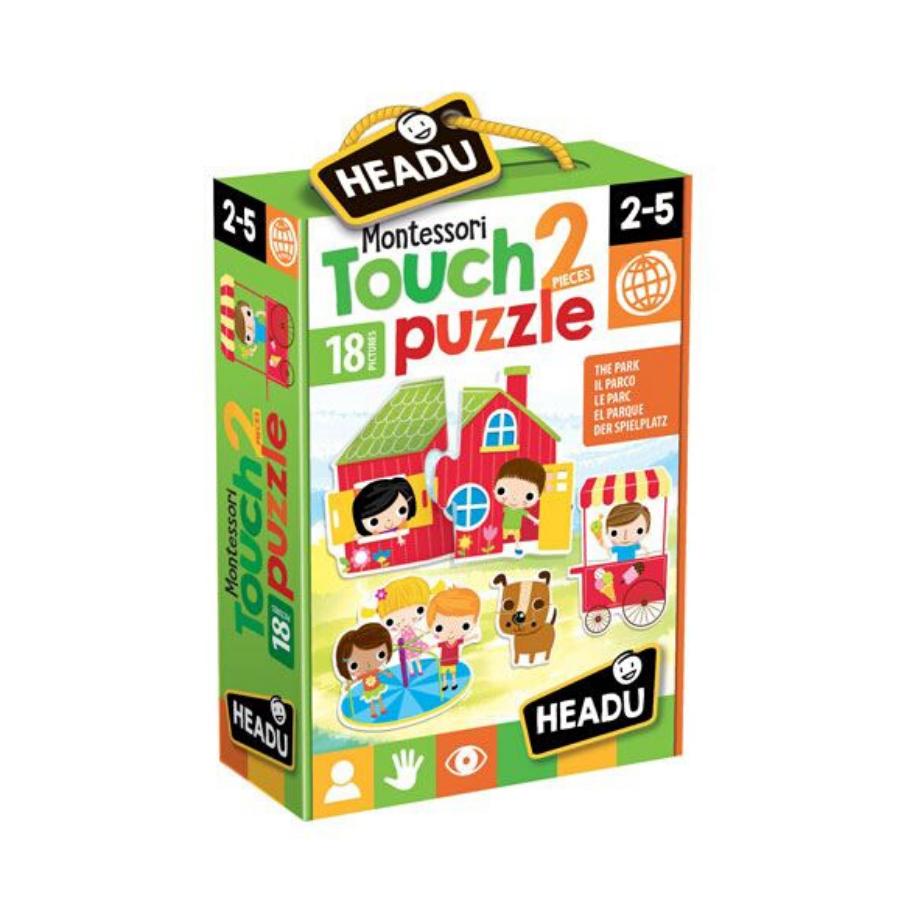 2 Pieces Touch Puzzle   18 Peças   Montessori