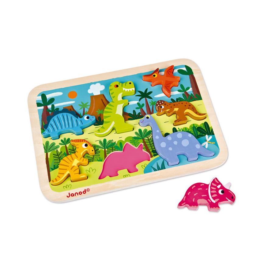 Puzzle Encaixável 7 Peças | Dinossauros