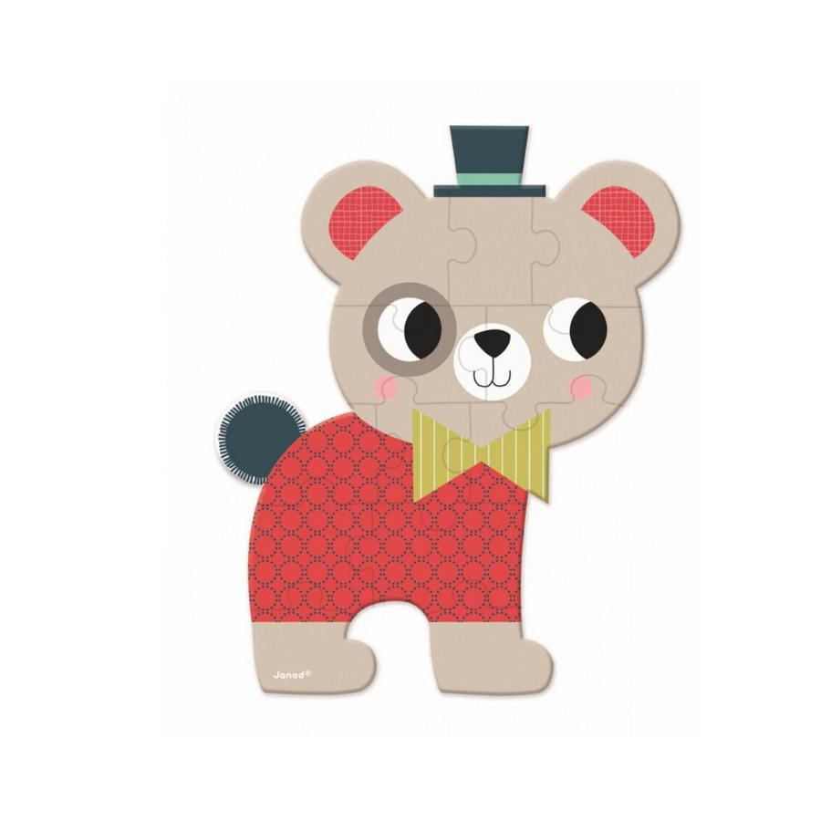 Mini Puzzle 12 Peças | Baby Forest | Urso