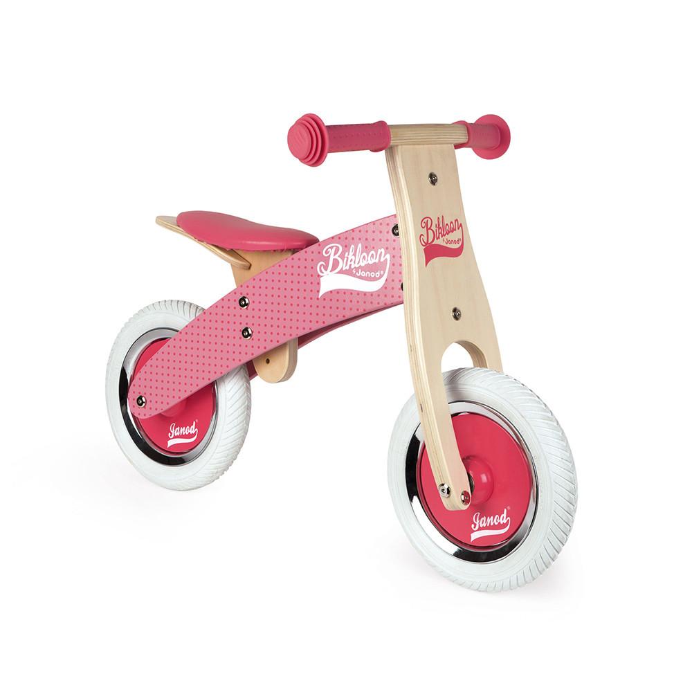 Bikloon | Bicicleta De Madeira Rosa