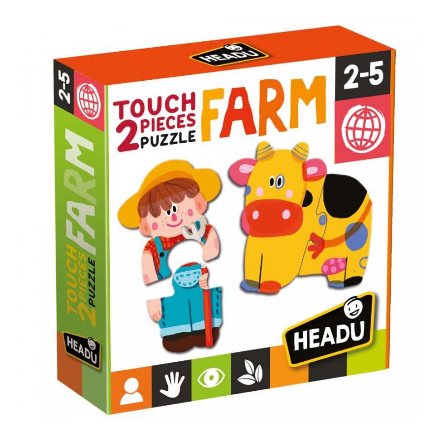 2 Pieces Touch Puzzle   Farm