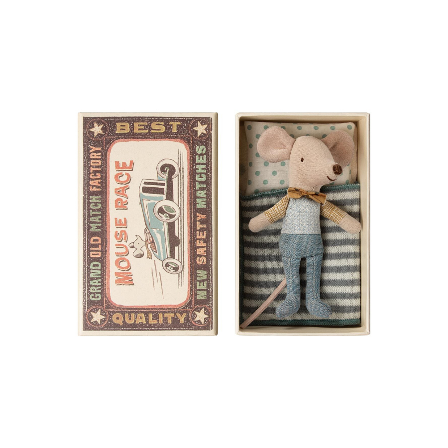 Little Brother Mouse In Matchbox | Bow Tie