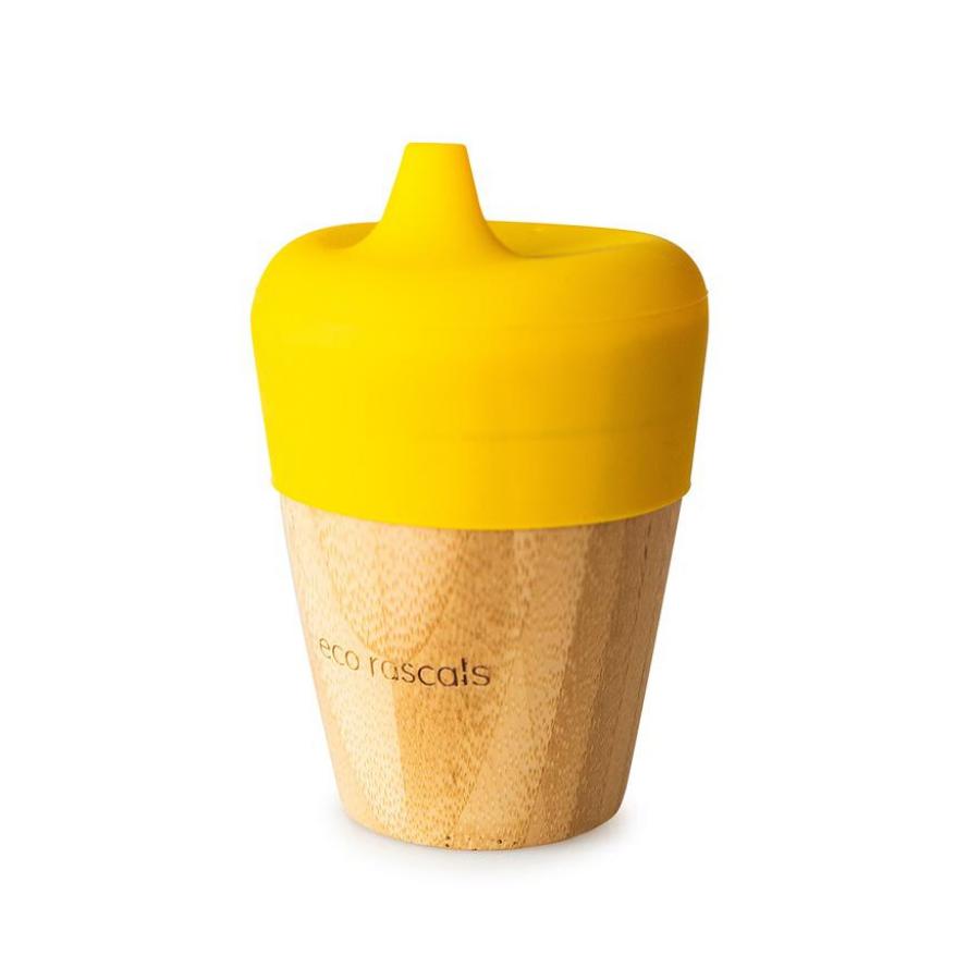Copo Com Bocal   190 Ml   Amarelo