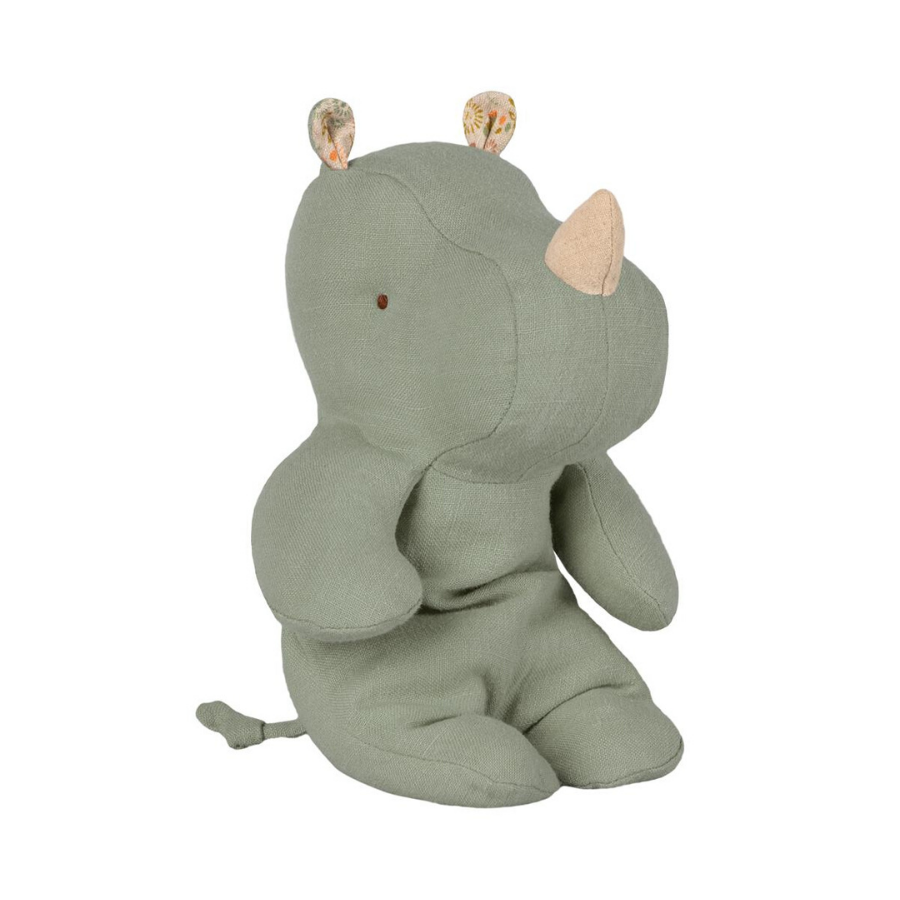 Maileg | Safari Friends | Rhino | Small | Dusty Green