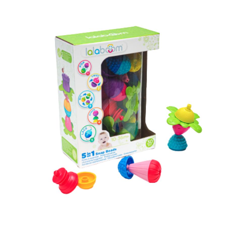 5 Em 1 Snap Beads | 30 Peças | Montessori