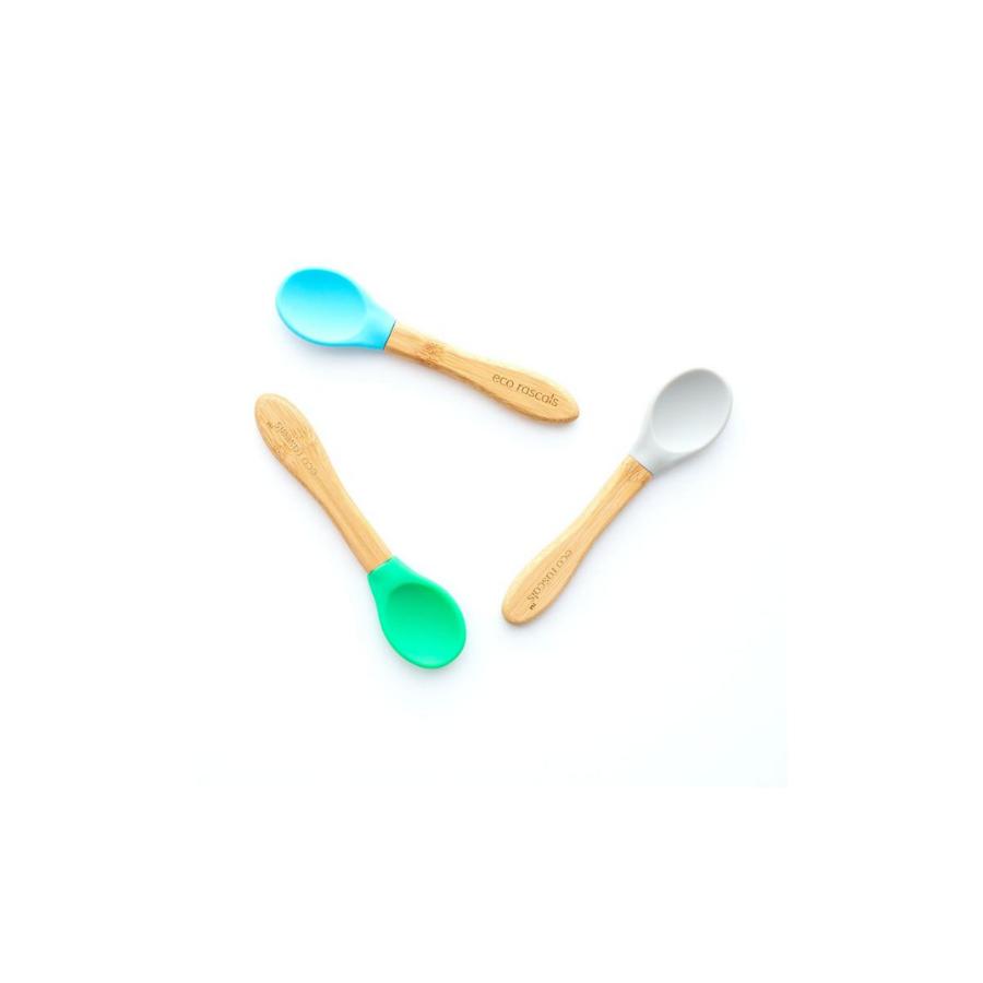 Pack 3 Colheres Bamboo | Cinza E Azul E Verde