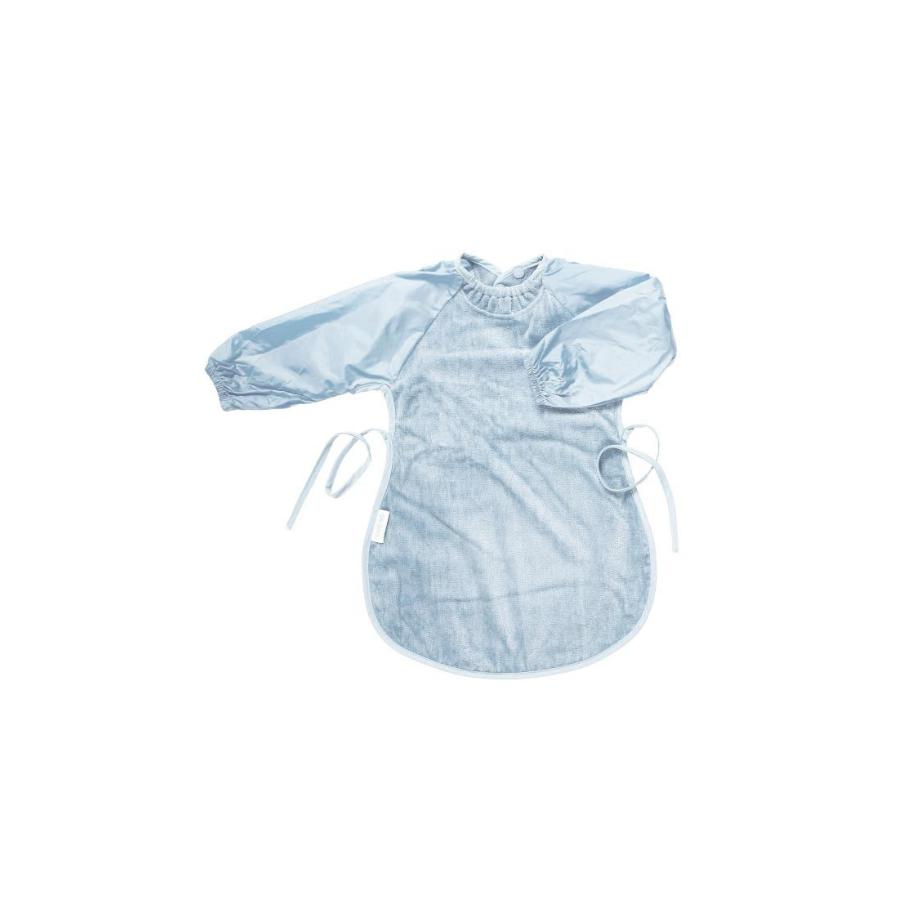 Babete XL Com Mangas   Azul Pastel
