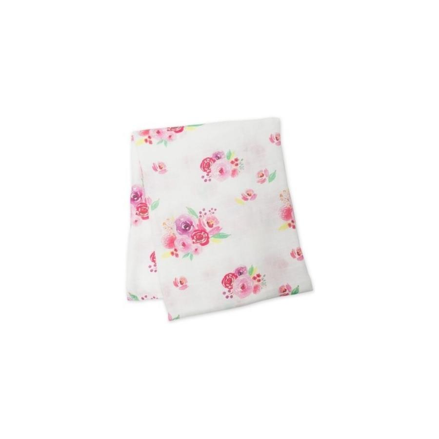 Fralda Bamboo | 1.20 X 1.20 | Flores Rosa