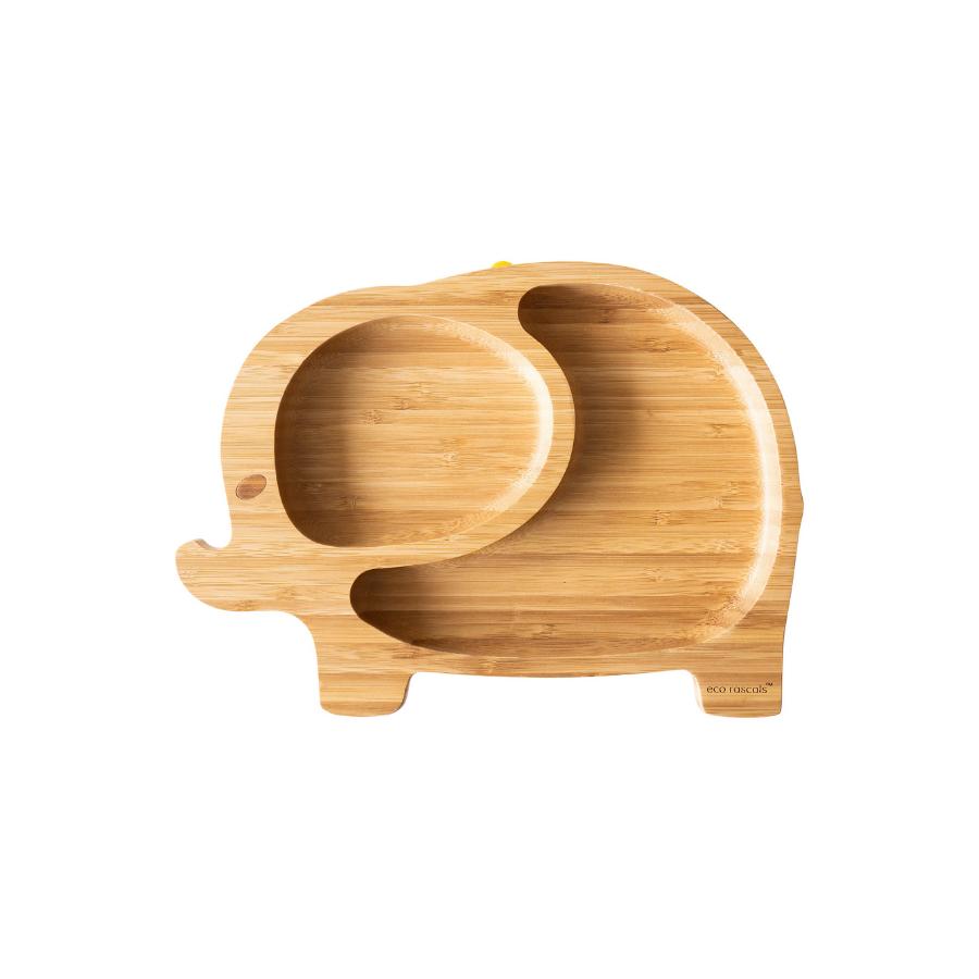 Prato De Bamboo | Elefante | Cinza