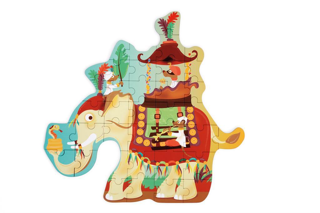 Contour Puzzle | Elefante