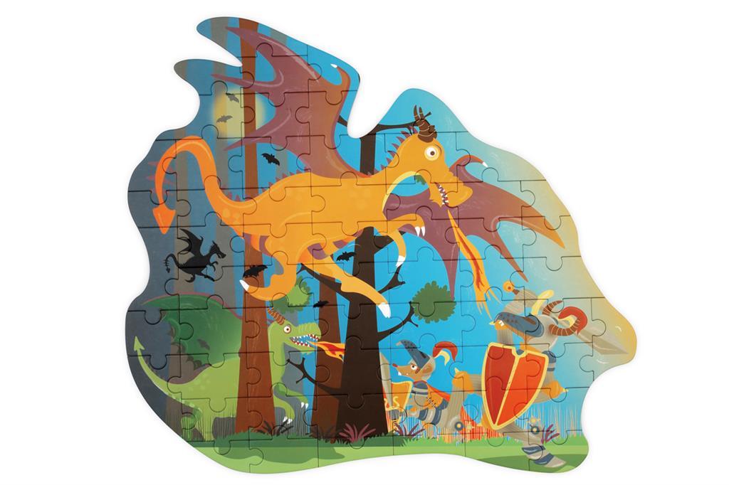Contour Puzzle | Dragão