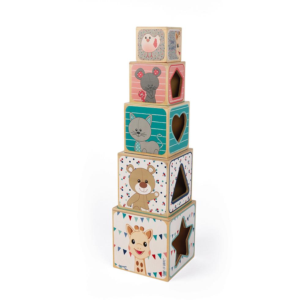 Pirâmide Madeira | 5 Cubos | Sophie La Girafe