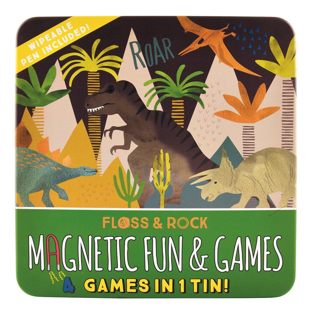 Set 4 Jogos Magnéticos | Dinossauros