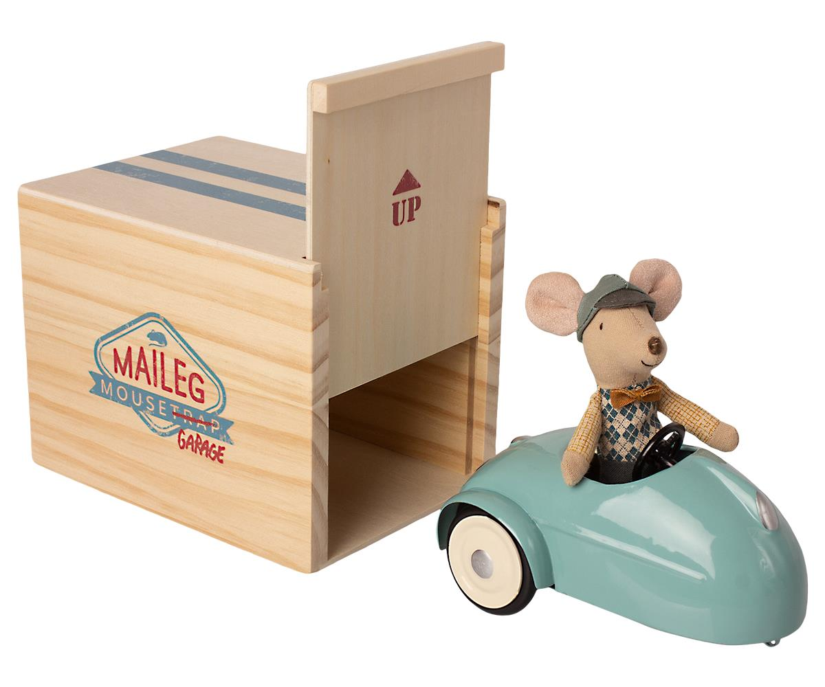 Little Brother Mouse | Car With Garage | Blue