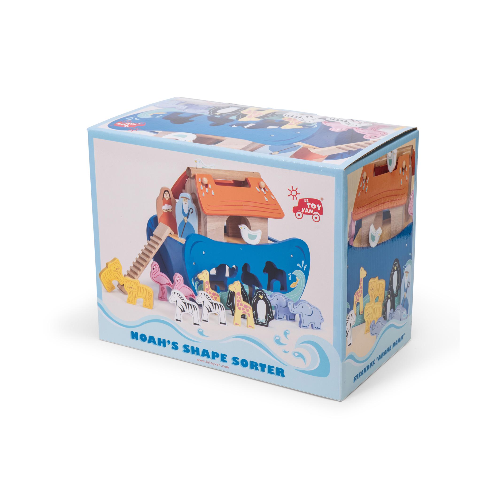 Arca De Noé Com Figuras De Madeira