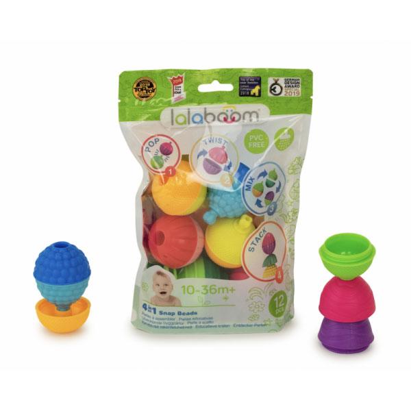 4 Em 1 Snap Beads | 12 Peças | Montessori